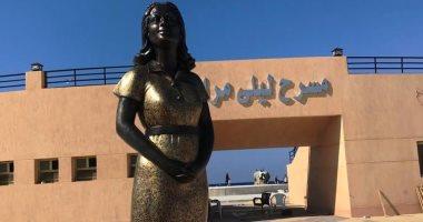 """""""هى فين ليلى مراد"""".. تمثال الفنانة الكبيرة يثير سخرية رواد التواصل الاجتماعى"""