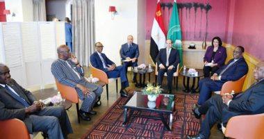 """السيسى يستضيف رؤساء رواندا والسنغال وجنوب افريقيا بـ""""غداء عمل"""" فى فرنسا"""