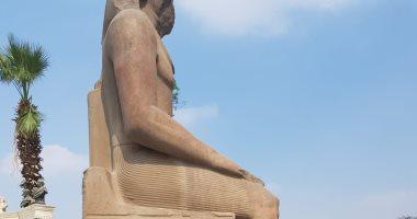 شاهد.. القطع الأثرية الثقيلة قبل نقلها للمتحف المصرى الكبير