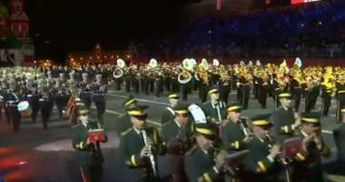 شاهد.. تواصل فعاليات المهرجان الدولى الـ12 للموسيقات العسكرية فى موسكو
