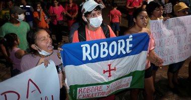 مظاهرات لنشطاء البيئة فى بوليفيا احتجاجًا على حرائق الغابات فى روبور