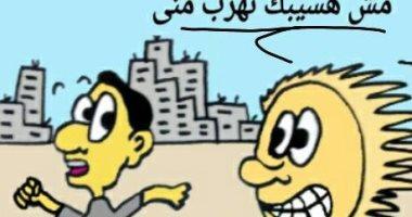 """""""جميل"""" بشارك """"صحافة المواطن"""" بكاريكاتير يوصف ارتفاع درجات الحرارة"""