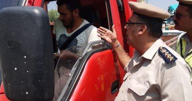 صور.. ضبط 4 سائقين من متعاطى المخدرات فى حملة مرورية بالقليوبية