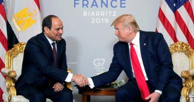 لقاء الرئيس السيسى مع الرئيس ترامب فى قمة السبع
