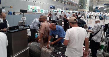 عودة 3700 حاج من الأراضى المقدسة عبر الجسر الجوى لمصر للطيران.. صور