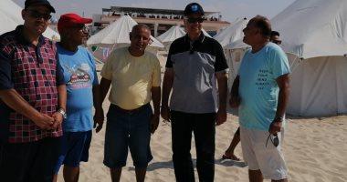 رئيس جامعة الإسكندرية يتفقد معسكر باجوش استعدادا لاستقبال البطولة الشاطئية