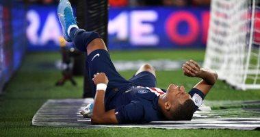 إصابة مبابى تثير القلق فى باريس سان جيرمان