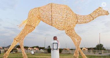 صور .. تعرف على أكبر مجسم للهجن فى العالم مقره السعودية