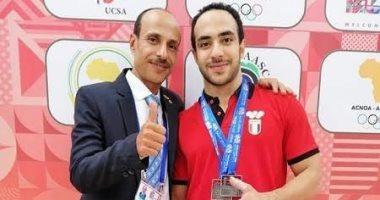 طالب بجامعة الفيوم يفوز بميداليتين فضيتين بدورة الألعاب الأفريقية بالمغرب
