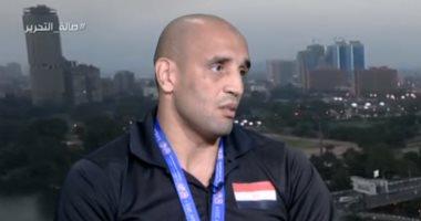 """عبد الرحمن عرابى """"بطل ذهبية الملاكمة """" : نفسى أحصل على وظيفة"""
