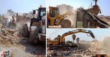 هدم 12 عقارا بمنطقة عين الحياة وتسكين 29 أسرة فى مدينة بدر