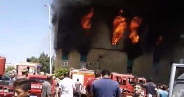 ماس كهربائى وراء حريق مصنع أحذية فى الإسكندرية