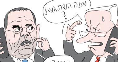 """كاريكاتير إسرائيلى يسخر من هجوم نتنياهو على وزير إعلامه """"أيوب قرا"""""""