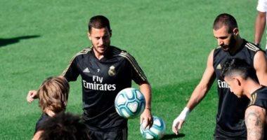هازارد يتدرب بالكرة لأول مرة فى مران ريال مدريد