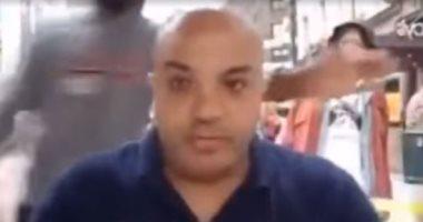 شاهد.. كف على قفا بهجت صابر الإعلامى الإخوانى الهارب خلال تحريضه ضد مصر
