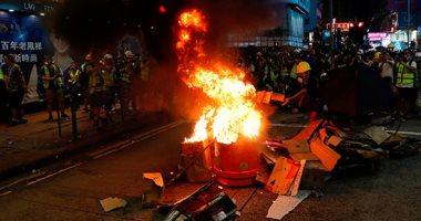 صور.. تجدد أعمال العنف والشغب فى احتجاجات بهونج كونج