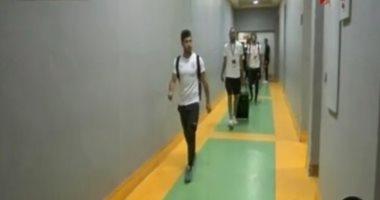 فيديو.. وصول فريق الزمالك برج العرب استعدادًا لنهائى الكأس