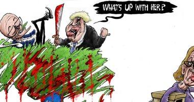 وزيرة العمل البريطانية تنجو من مجزرة جونسون بالاستقالة.. كاريكاتير إندبندنت
