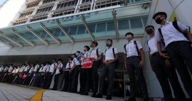 طلاب المدارس بهونج كونج يشكلون سلاسل بشرية