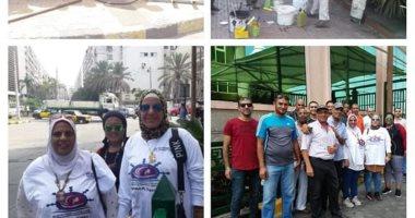 موظفو ميناء الإسكندرية يطلقون حملة لنظافة شوارع وأرصفة وساحات الميناء