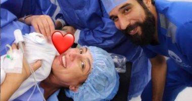 """صورة.. حنان مطاوع ترزق بمولودتها الأولى """"أماليا"""" بعد 3 سنوات زواج"""
