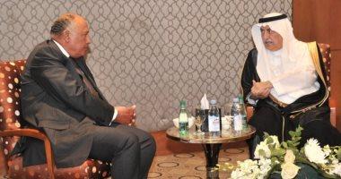 وزير الخارجية يبحث مع نظيره السعودى تطورات الأوضاع في المنطقة