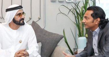 محمد بن راشد يلتقى صاحب ثالث صفقة مليارية فى قطاع التكنولوجيا بدبى