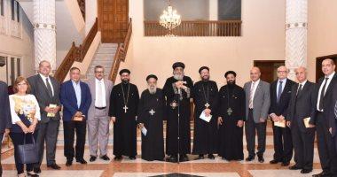 البابا تواضروس يستقبل كهنة ومجلس كنيسة جوارجيوس والأنبا أنطونيوس