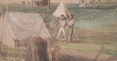 العثور على لوحة تصور مدينة أديلايد فى أسترايا بعد 180 عاما من اختفائها