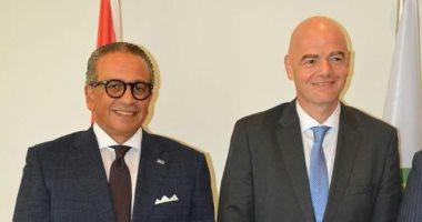 عمرو الجناينى يلتقى انفانتينو لمناقشة تطورات عمل اللجنة الخماسية باتحاد الكرة