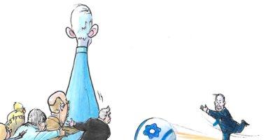 كاريكاتير إسرائيلى : نتنياهو سيفوز فى انتخابات الكنيست وسيشكل الحكومة