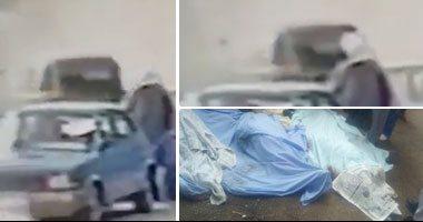 فيديو.. لحظة سقوط ميكروباص محور صفط اللبن