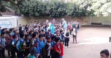 صور.. مدارس المنوفية تستقبل تلاميذ الصفوف الأولى ورياض الأطفال بأول يوم دراسة