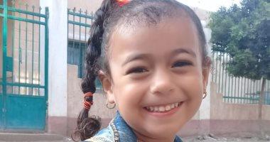 أول يوم مدرسة.. شعبان يشارك بصورة لابنته فى أول يوم kg1