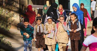 عودة الدراسة.. تلاميذ رياض الأطفال والصفوف الأولى يتوافدون على مدارس الجيزة