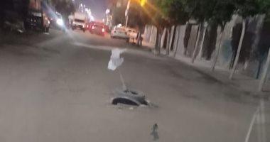 بلاعة بدون غطاء.. شكوى سكان آخر شارع المعاهدة بمدينة طنطا