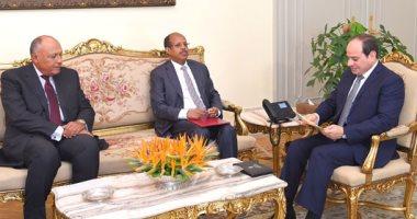 السيسى يتسلم رسالة من رئيس جيبوتى لتعزيز العلاقات الثنائية