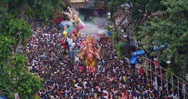 """الهندوس يحتفلون بمهرجان """"جانيش تشاتورثى"""" إله الحكمة وجلب السعادة"""
