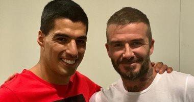 بعد أنباء مفاوضاته ميسي وسواريز.. بيكهام يصل برشلونة