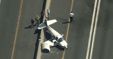 4 جرحى فى تحطم طائرة على طريق سريع بولاية ميريلاند الأمريكية