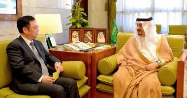أمير الرياض يستقبل سفير الصين لدى السعودية لتعزيز سبل التعاون بين البلدين