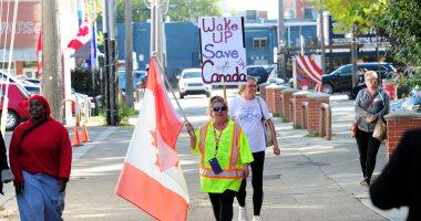 صور.. مظاهرات ضد رئيس الوزراء الكندى تزامنا مع انطلاق الحملات الانتخابية