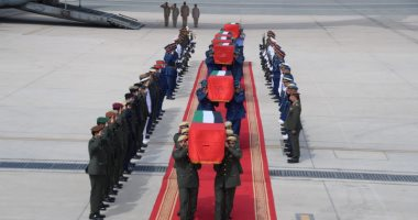 وصول جثامين شهداء الإمارات إلى مطار البطين فى أبو ظبى