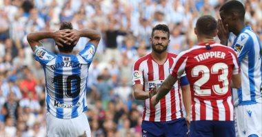 أتلتيكو مدريد يسقط بثنائية أمام سوسيداد فى الدوري الإسباني.. فيديو