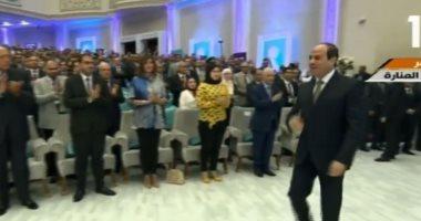 شاهد.. لحظة وصول الرئيس السيسي مقر انعقاد المؤتمر الوطنى الثامن للشباب