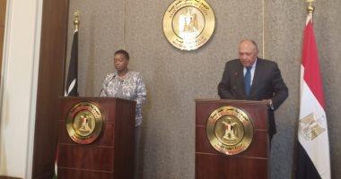 وزير الخارجية سامح شكرى ونظيرته الكينية مونيكا جوما