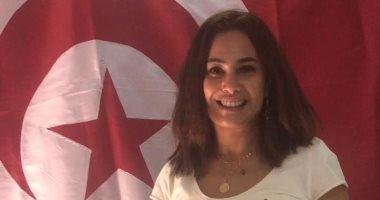 """هند صبرى تكشف لـ""""اليوم السابع"""" سبب ارتدائها تيشرت """"شعب الهريسة""""..فيديو"""