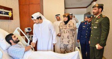 منصور بن زايد للمصابين : أنتم نماذج فخر وستذكر الأجيال القادمة تضحياتكم
