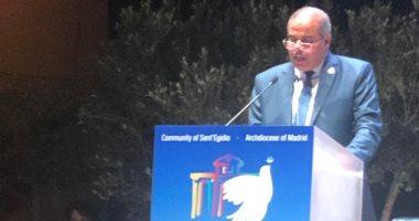 رئيس جامعة الأزهر فى كلمته بملتقى السلام العالمى: الأديان بريئة من تهمة الإرهاب