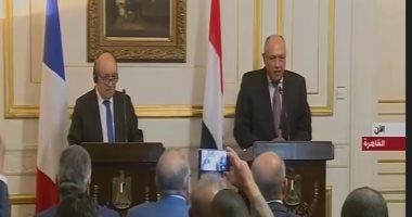 """سامح شكرى: علاقات مصر وفرنسا """"تاريخية"""".. وهناك توافق كبير بين الدولتين"""